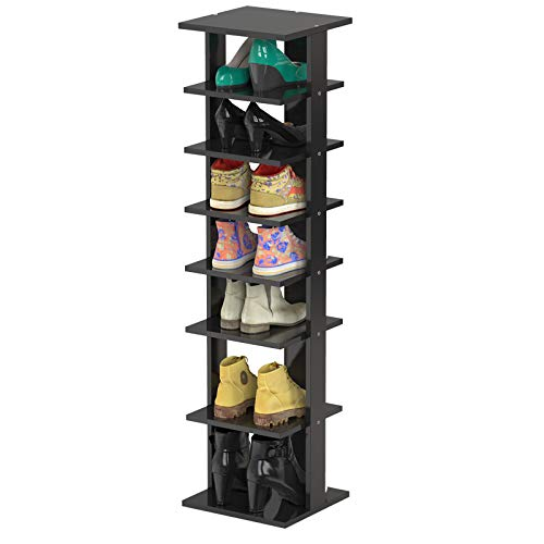 Tangkula 7 Tiers Wooden Shoes Racks, Space Saving Entryway...