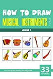 How to Draw Musical Instruments for Kids - Volume 1 (English Edition)