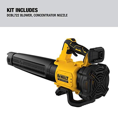 DEWALT 20V MAX XR Leaf Blower, Cordless, Handheld, 125-MPH, 450-CFM, Tool Only (DCBL722B)