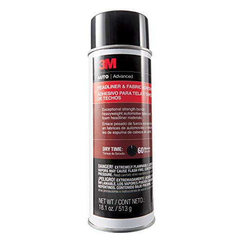 3M - 38808 Headliner & Fabric Adhesive, 18.1oz, 1 aerosol