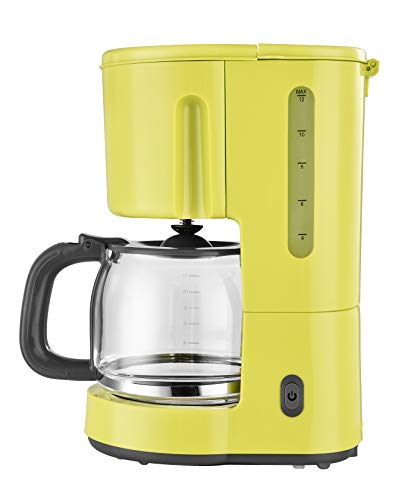 efbe-Schott SC KA 1080.1 GLB Kaffeeautomat 1,25 Liter mit Glaskanne, Metall, Glas, Kunststoff, 1.25 liters, Gelb