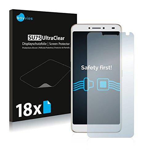 Savvies 18x Schutzfolie kompatibel mit Alcatel 3V Bildschirmschutz-Folie Ultra-transparent