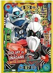 Lego Ninjago Serie 5 Trading Cards Limited Edition Cards LE25 Digi Jay vs Unagami