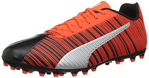 Puma Herren ONE 5.4 MG Fußballschuhe, Black-NRGY Red Aged Silver, 42 EU