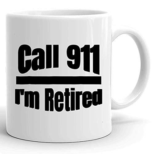 NA Taza de Taza jubilada - Oficial de policía Jubilado Cop Fiesta de jubilación Regalo Regalo Camiseta Tazas Tazas para Hombres Mujeres