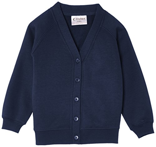 TRUTH & FABLE Unisex 260G Sweatshirt Strickjacke, Blau Marino), 7-8 jahre (Herstellergröße Size: 23-25
