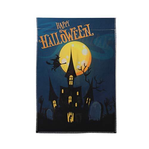 YARNOW 12 X 18 Zoll Halloween Garten Flagge Doppelseitig Glücklich Halloween Haus Flagge für Halloween Haus Hof Outdoor Dekoration Party Bevorzugen Lieferungen
