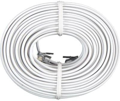 Permo 50 Feet White Telephone Extension Cord Cable Line Wire