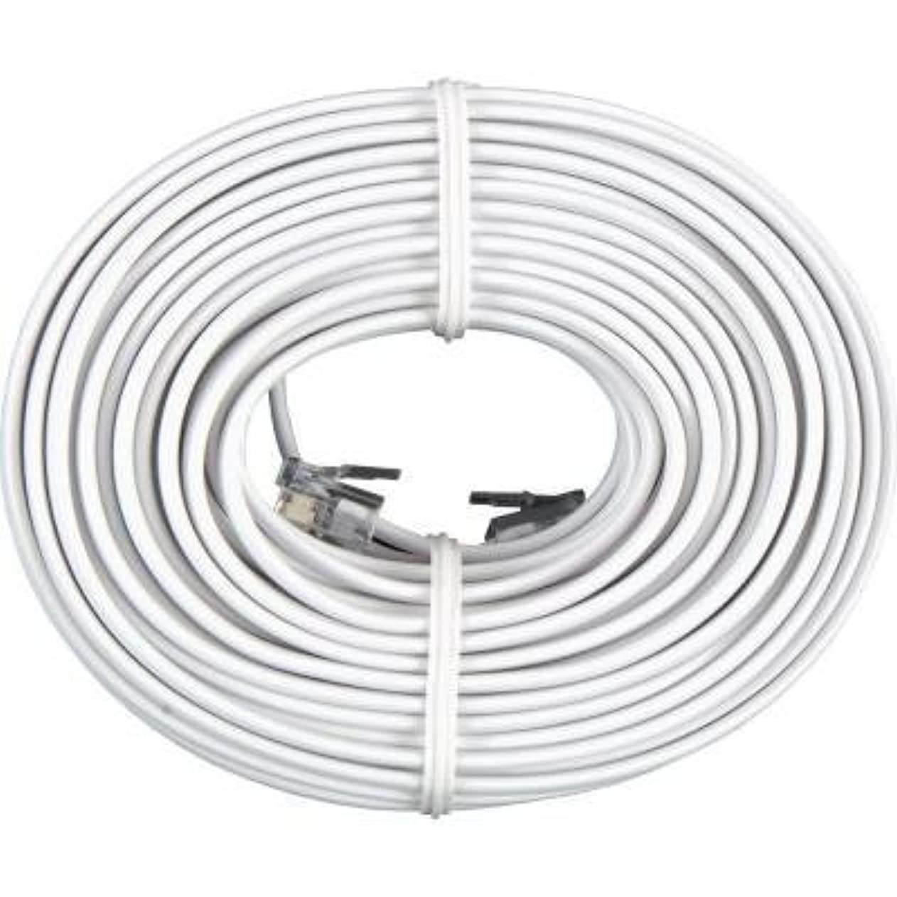 Permo 50 Feet White Telephone Extension Cord Cable Line Wire boeeqeehzag47731