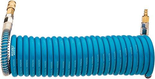 Hazet Druckluft-Spiralschlauch (Länge: 7,62 m, Innendurchmesser: 10 mm, Arbeitsdruck: 10 bar, Polyurethan) 9040S-10