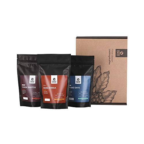 Coffee Circle | Probierpaket für den Vollautomaten mit Premium Kaffee und Espresso | 3x100g ganze Bohne | Bohnenkaffee aus nachhaltigem Anbau | fair & direkt gehandelt