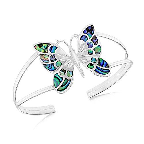 Tuscany Silver Armreif Sterling Silber Pavéfassung Muschel Schmetterling