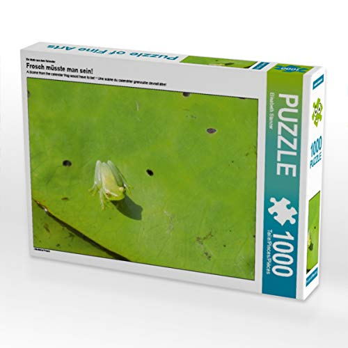CALVENDO Puzzle Frosch müsste Man Sein! 1000 Teile Lege-Größe 64 x 48 cm Foto-Puzzle Bild von Elisabeth Stanzer