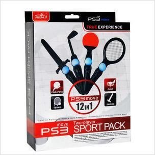 Sony® PS3 MOVE 12-in-1 SPORTS CONTROLLER ATTACHMENT MULTI PACK BUNDLE (12x ADJUNTOS para