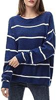 Maglione Donna Maglione Oversize Sweatshirt Felpa Invernali Primavera Manica Lunga Pullover Eleganti Stripe Casual Moda...