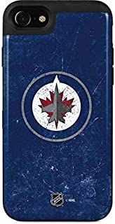 Skinit Wallet Phone Case Compatible with iPhone SE - Officially Licensed NHL Winnipeg Jets Distressed Logo Design - 2 Card...