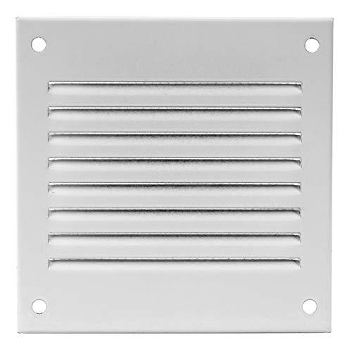 100x100mm Lüftungsgitter Metall, weiß - Abluftgitter - Wetterschutzgitter - mit Insektenschutz