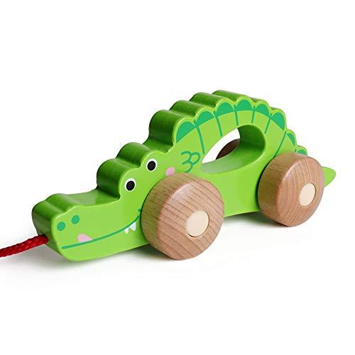 Markc Kinder bunte Weisheit Tier Anhänger Spielzeug Kleintier Warenkorb Kinder Walker Früherziehung Puzzle Outdoor Indoor Spielzeugauto 3-6 Jahre alt (Color : Crocodile)