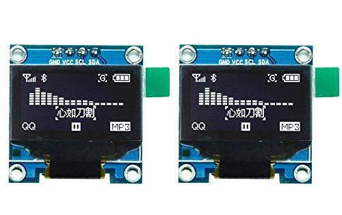 """VKLSVAN 2個 0.96"""" iic i2c ホワイトOLEDモジュール128×64 OLED LCDディスプレイArduinoに対応"""