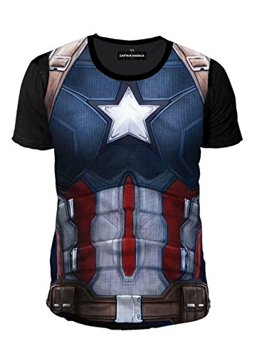 Captain america - Canotte - Basic - Collo a U - Uomo Multicolore M