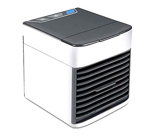 Ecosides - Ventilador portátil con USB, enfriador de espacio personal, ventilador de escritorio portátil, mini dispositivo de aire acondicionado