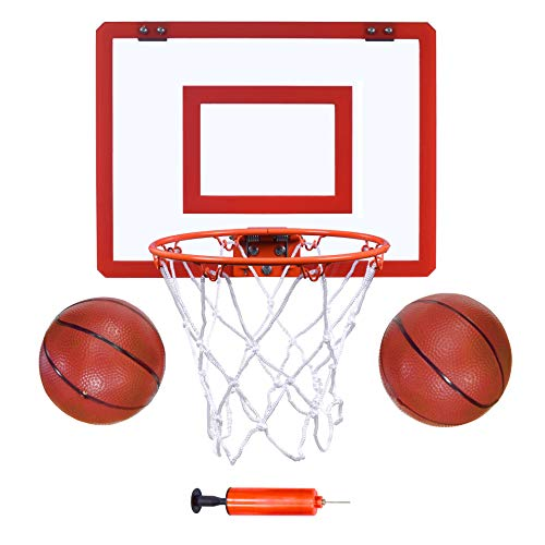 Indoor Mini Basketball Hoop and Balls 16 'x12 - Basketball Hoop for Door Set - Indoor Mini Basketball Game for Kids
