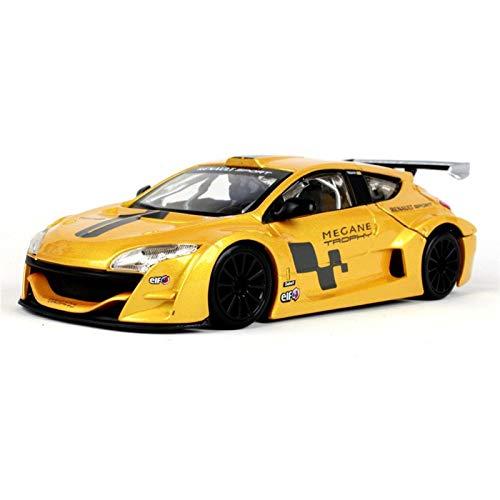 Modelo de vehículo de juguete 1:24 para R-enault Megane simulación coche modelo Racing Edition aleación modelo simulación coche decoración colección regalo juguete