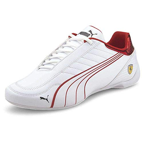 PUMA Ferrari Race Future Kart Cat, Zapatillas Unisex Adulto, Blanco White/Rosso Corsa, 42 EU