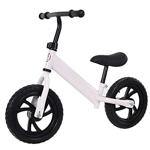 GGXX La bicicleta estática para niños de 12 pulgadas con asiento ajustable es apta para bicicletas de entrenamiento para niños de 1 a 5 años sin scooter