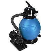 EAU PROPRE : Équipé de nombreux accessoires, ce système de pompe filtre à sable permet de garder votre piscine ou votre bassin d'eau propre et clair en permanence ! POLYVALENTE & PUISSANTE : Idéal pour les bassins aquatiques comme les grandes piscine...