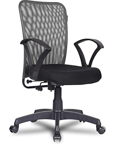 Green Soul® Seoul Mid Back Office/Study Chair with 4 Color Options and Breathable Mesh (Bold Grey)