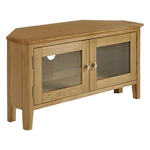 Alba Oak Corner Tv Stand