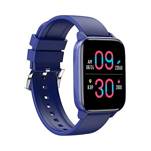 Reloj Inteligente 1.69 frecuencia cardíaca presión Arterial Ciclo de monitoreo del sueño pronóstico del Tiempo Reloj Deportivo-Azul