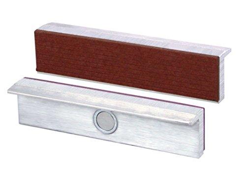 Heuer Schraubstockbacken (Schutzbacken, passend zu Schraubstock 100 mm, Material: Aluminium, Fiber) 111100