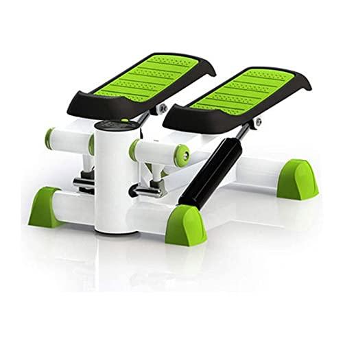SFLRW Stair Stepper, Mini Mini Step Machine Portable Fitness con bandas de resistencia y monitor LCD, Equipo de ejercicios para el hogar para el entrenamiento de cuerpo completo, ejercicio, escalera S