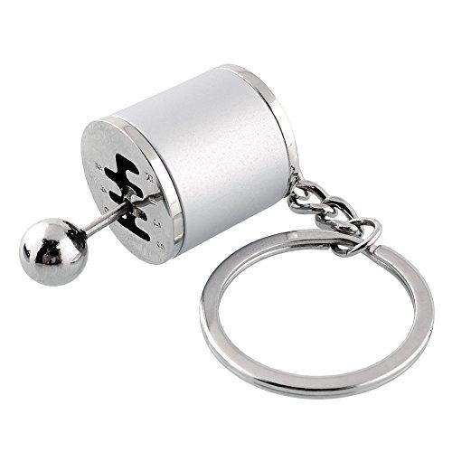 Chaveiro Sedeta OEM para carro de liga de zinco prata chaveiro engrenagem câmbio manípulo engrenagem metal chaveiro anel de chaveiro para homens chaveiros fazer chaveiros prata chaveiros 1 peça de liga de zinco engrenagem botão