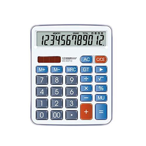 Calculadoras de oficina, calculadora de escritorio con botón LCD grande de 12 dígitos Botón sensible grande, calculadoras grandes de escritorio