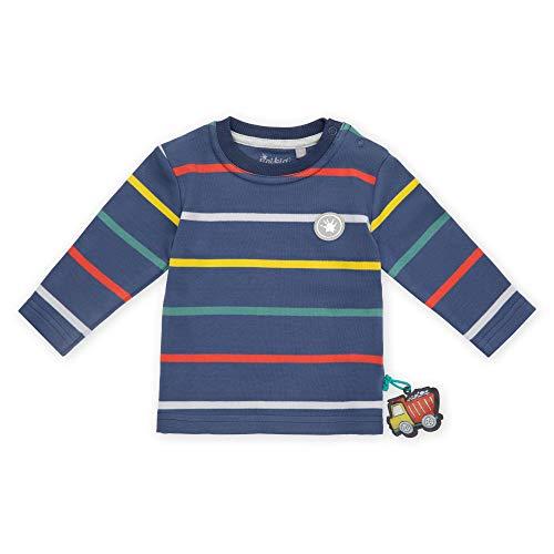 Sigikid Baby-Jungen Langarmshirt aus Bio-Baumwolle, Größe 062-098 Pullover, Blau/Klecks, 86