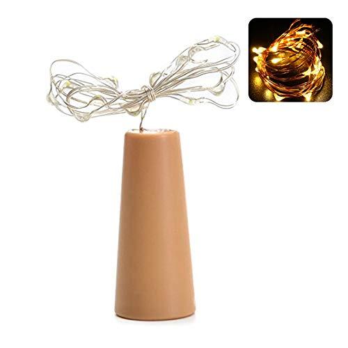 YUZI 2 M 20 LED Bottiglia di Vino Luci Della Stringa di Sughero A Forma di Tappo di Vetro Lampada Natale