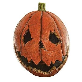 Adult Scary Last Night Pumpkin Halloween Mask Orange