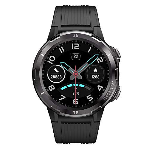 Smart Watch for Android and iOS Phone, Lintelek 1.3 Inch Round Touch Screen Smartwatch with Heart Rate Monitor, Fitness Tracker 5 ATM Waterproof, Step Counter for Men and Women