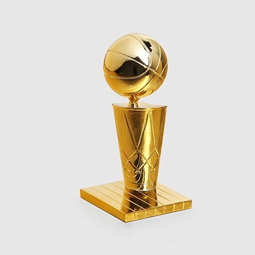 Sanqing NBA Championship Trophy League Prize Electroplating Gold Environmentally Friendly Resin Corrosion Resistant Souvenir,Gift for Basketball Fans,3 Sizes,S