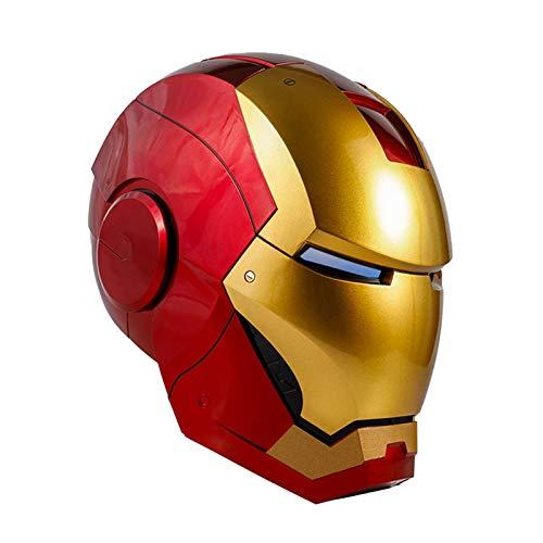 GYMAN Casco Iron Man 1: 1 Relacin De Carnaval Realista Altura Elctrica Casco con Luz LED China De Control por Voz para Halloween Cosplay Atrezzo,62cm