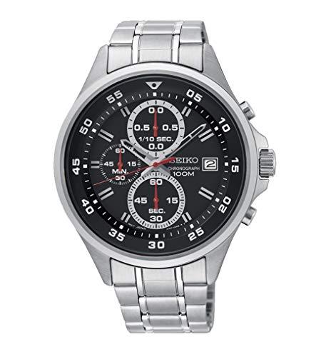 Seiko Herren Chronograph Quarz Uhr mit Edelstahl Armband SKS627P1