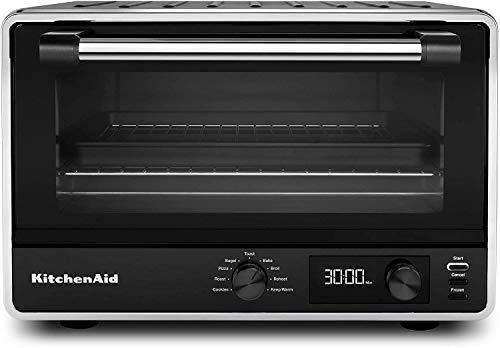 KitchenAid KCO211BM Digital Countertop Toaster Oven, Black Matte (RENEWED) CERTIFIED REFURBISHED