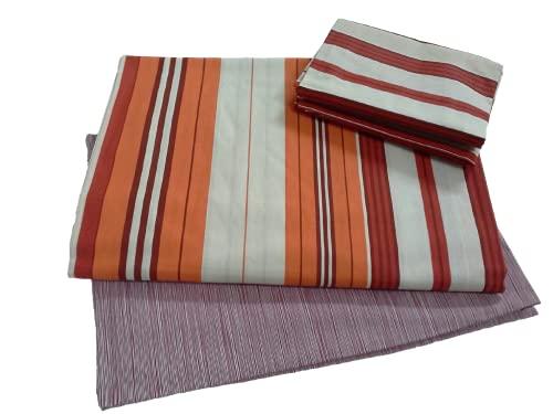 Bassetti - Juego de sábanas 100% algodón para cama individual, 1 plaza, 1 plaza y media, matrimonial, 2 plazas (individual, 1 plaza, Bard naranja/rojo)