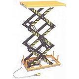 Piattaforma elevatrice elettroidraulica a pantografo triplo grande alzata con piano di sollevamento fisso elevatore a forbice cm.170x100 tavolo sollevatore alta portata Kg.2000 h.cm.300 NPFA200EF