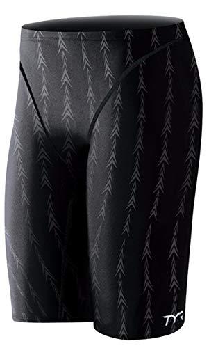 TYR Men's Fusion 2 Jammer Swim Suit (Black, 28 -Inch)