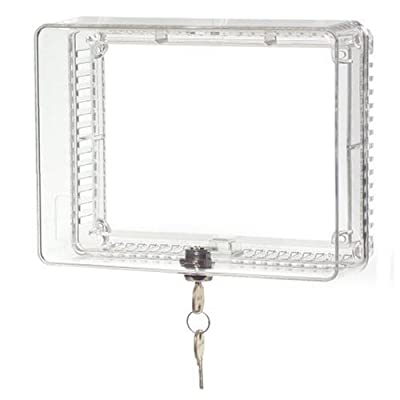 Honeywell Medium Thermostat Guard with Inner Shelf to Prevent Tampering