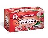 DEU Pompadour 1913 Infusión de rosas silvestres con tónico de hibisco y refrescante - 1 x 20 bolsitas de té (70 gramos)